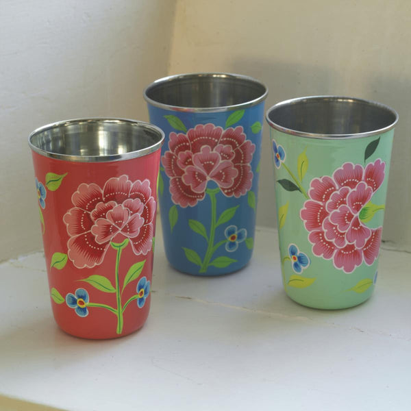 Franjipani Floral Cup | Potch | Ethical, Fairtrade, Local