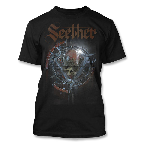 Skreeing Skull Black T-Shirt