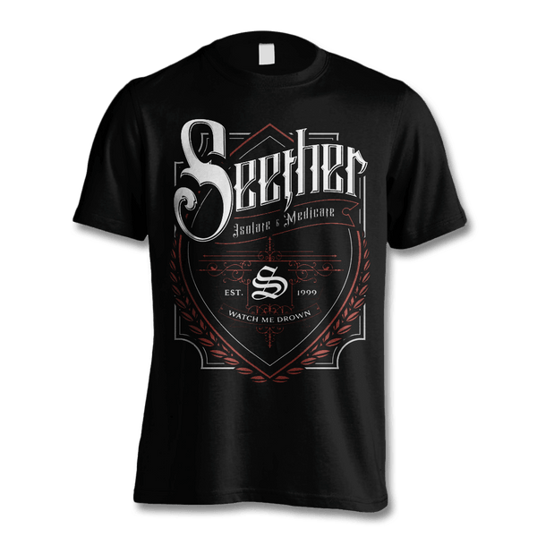 Beer Label T-shirt - Men's - Seether Official Store - 1