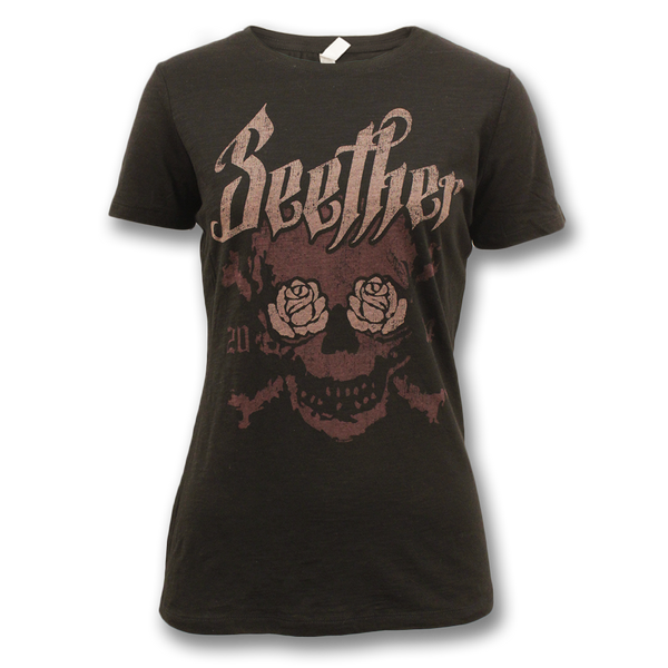 Rose Eyed Skull 2014 T-Shirt - Women's