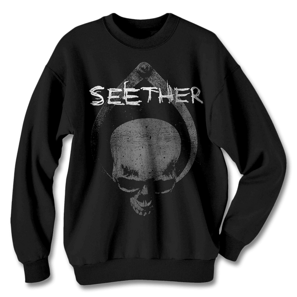 Skull Clamp Crewneck - Seether Official Store - 1