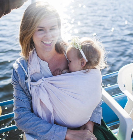 Breastfeeding in a ring sling, how to nurse in a ring sling,