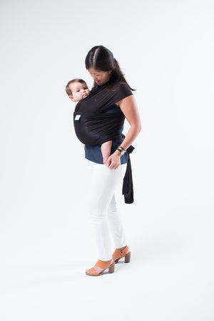 Black Baby Wrap, Modal Baby Wrap, Best Baby sling, infant carrier, newborn baby carrier
