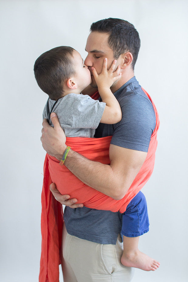 Babywearing dad-ring slings for dad-baby carrier for dads