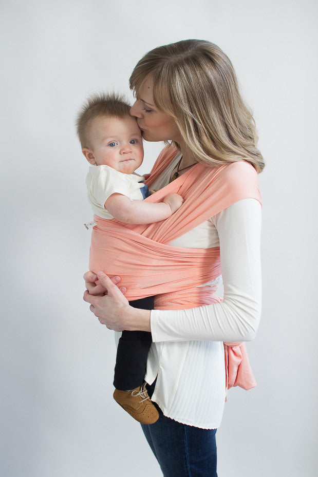 Hope Carried Baby Wrap-Solly Baby Wrap-Atlanta Baby Wrap-Peach Baby Sling