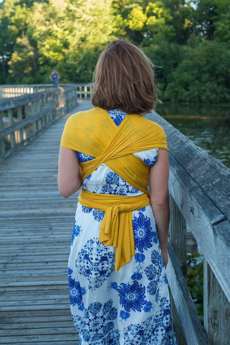 Yellow Baby Wrap-Baby Carrier-Hope Carried-Solly Baby Wrap-Infant Baby Carrier
