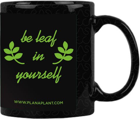 'Be Leaf In Yourself' coffee mug