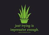 'Just trying is impressive enough' Gift Card