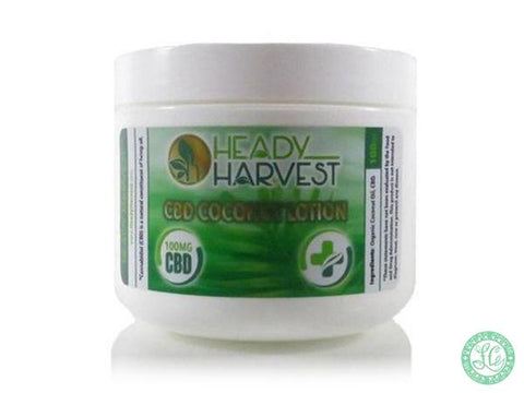Heady Harvest Coconut CBD lotion