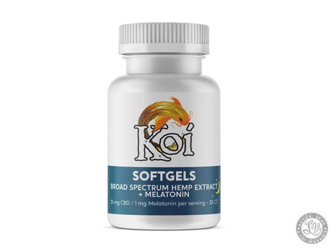 Koi Hemp Extract CBD Softgels – Nighttime