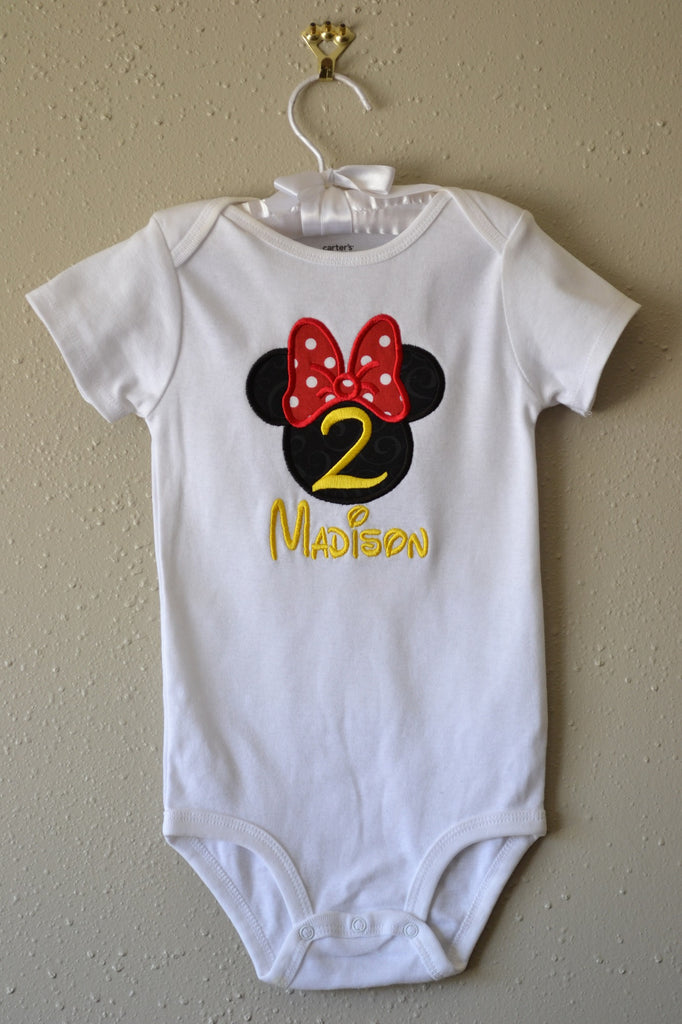 Minnie Mouse Top And Ruffle Shorts Birthday Outfit