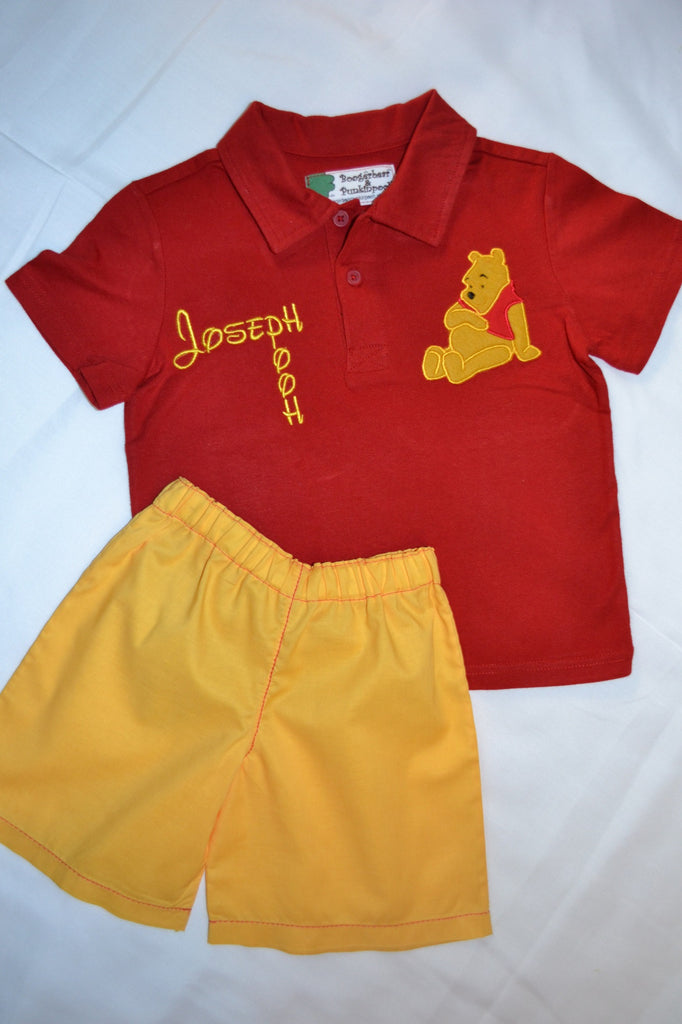 9ecbbfdb017f Winnie The Pooh Shirt and Shorts Outfit – Boogerbear Punkinpooh Kids ...