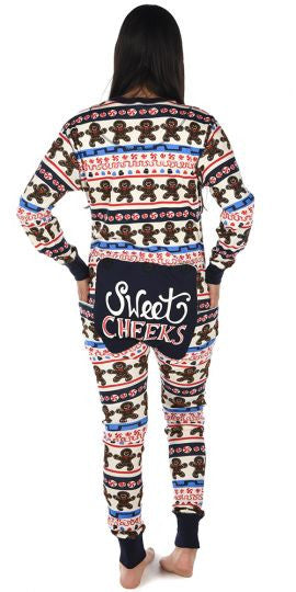 8e92890943 Family Christmas Pajamas Flapjacks Adult Sweet Cheeks Gingerbread ...