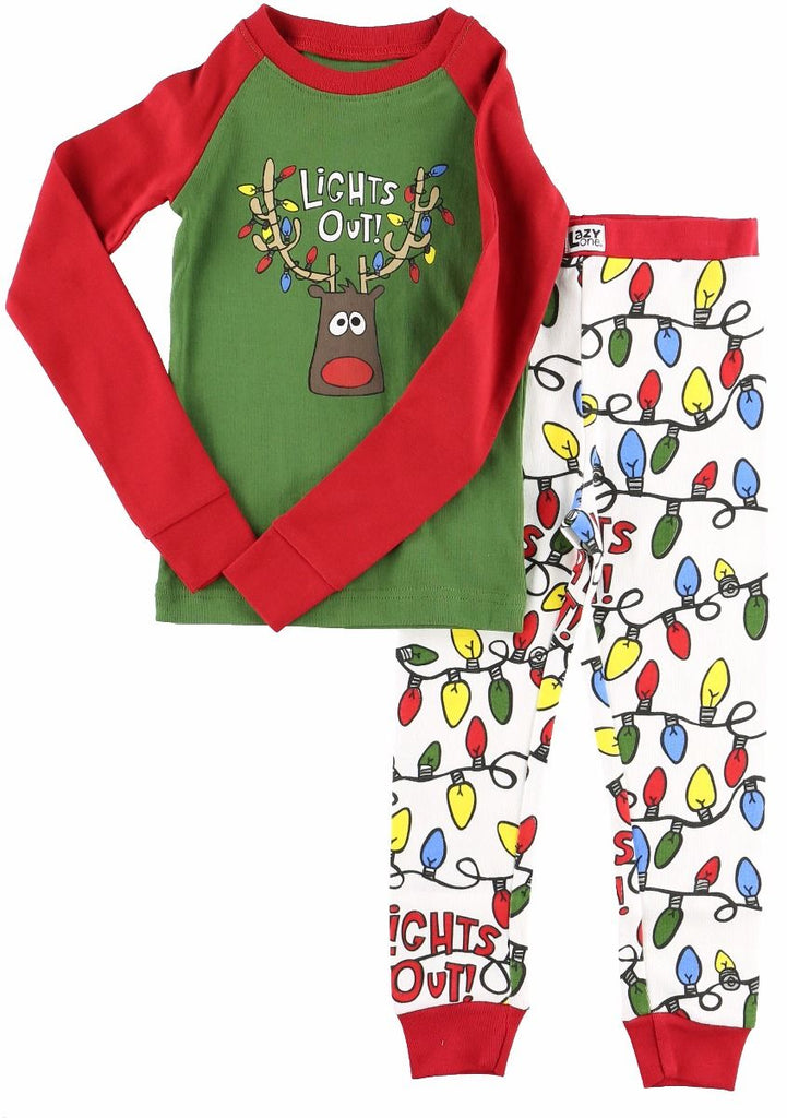 Lights Out Family Christmas Pajamas Infant Baby PJ\'s – Boogerbear ...