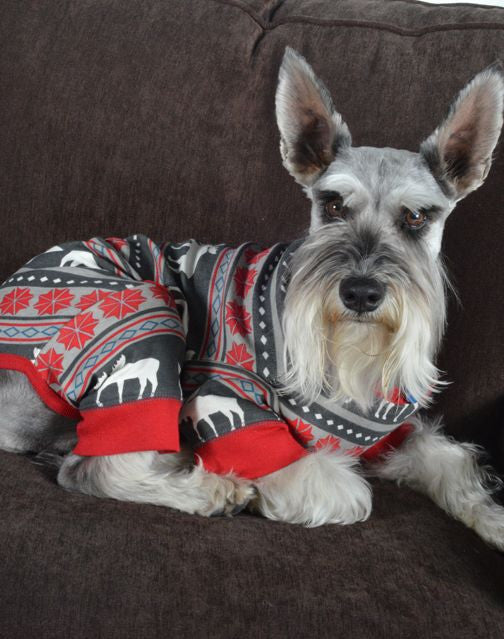 Christmas Pajamas For Dog.Moose Fair Isle Family Christmas Pajamas Dog