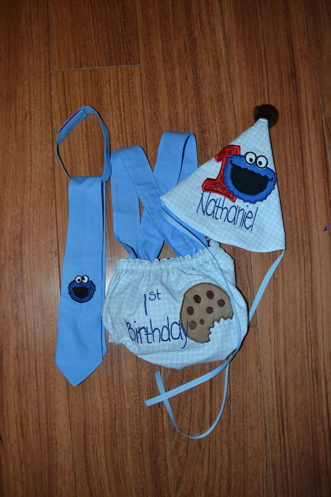 Sesame Street 1st Birthday Smash Cake Outfit Cookie Monster