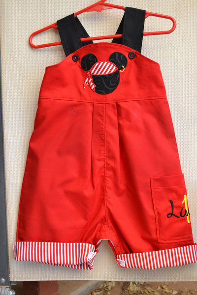 f6a886331 Boys Disney Pirate Mickey Mouse Shortalls/Longalls Outfit ...