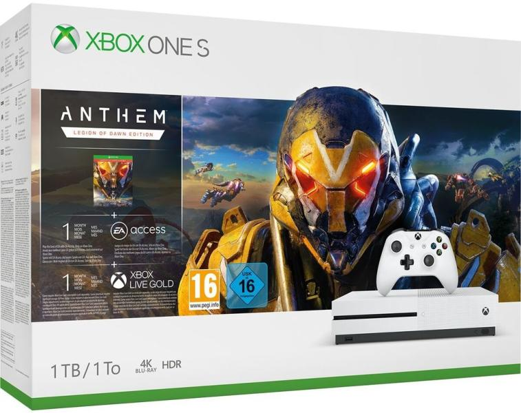 Xbox One Slim 1TB + Anthem - Legion of Dawn Edition