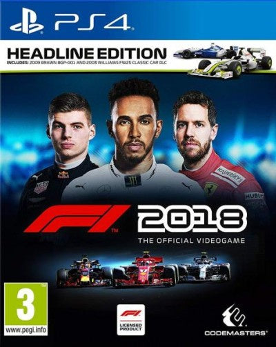 PlayStation 4 F1 2018