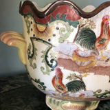 1930's Asian Chinoiserie Ceramic Rooster Bowl** - FREE SHIPPING!