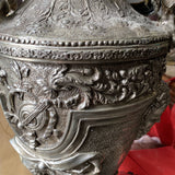 1930s Silver Mytholgical Relief Vase** - FREE SHIPPING!