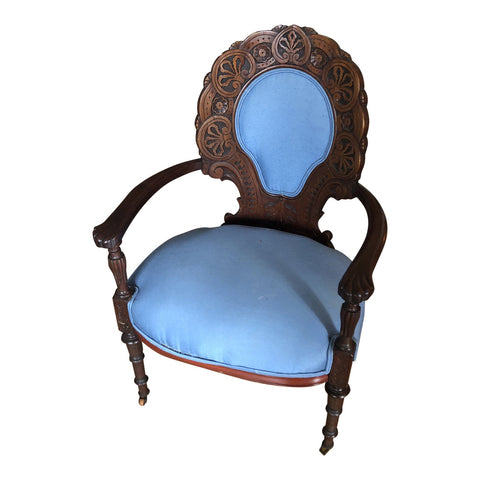 1930s Vintage Blue Chair** - FREE SHIPPING!