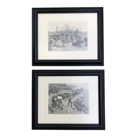 1930s Vintage Remington Prints - A Pair - FREE SHIPPING!