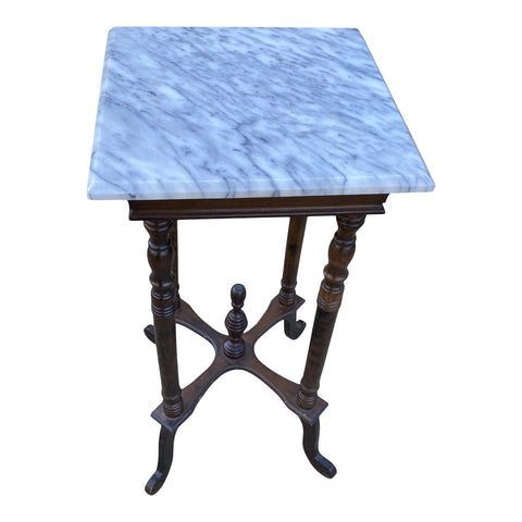 1940s Marble French Side Table - FREE SHIPPING!