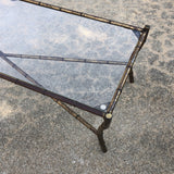 1950s Hollywood Regency Long Metal Bamboo Coffee Table** - FREE SHIPPING!