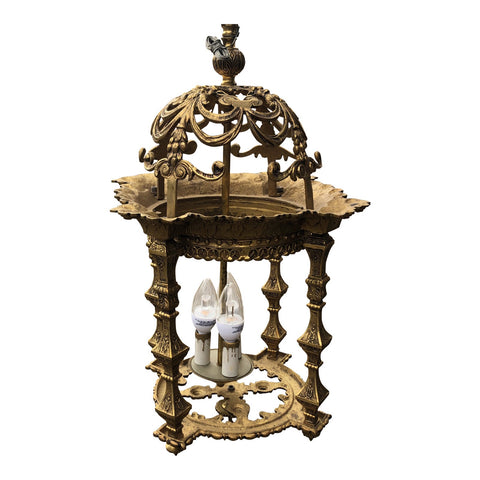 1960s Vintage Spanish Brass Chandelier** - FREE SHIPPING!