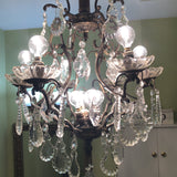 1970s 10 Light Scalloped French Crystal Chandelier** - FREE SHIPPING!