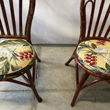 1970s Albini Style Tortoiseshell Bistro Chairs - Set of 4
