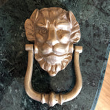 1970s Art Deco Lion Brass Door Knocker - FREE SHIPPING!