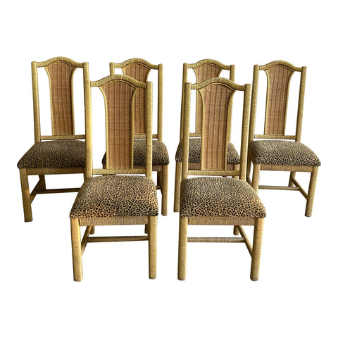 1970s Bamboo Chairs - Collection of 6