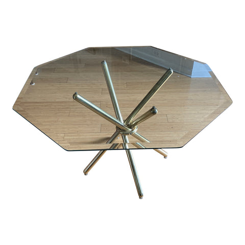1970s Bauhaus Dan Droz Table With Glass Top - FREE SHIPPING!