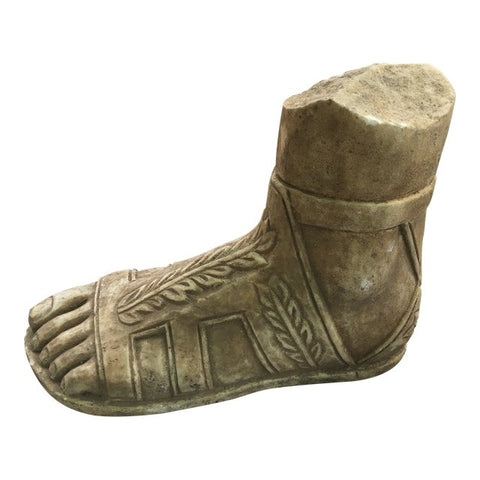 1970s Belle Epoche Stone Gladiator Roman Foot Paperweight/Sculpture