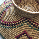 1970s Boho Chic Woven Hat Baskets** - 2 Pieces - FREE SHIPPING!