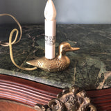1970s Brass Duck Lamp - FREE SHIPPING!