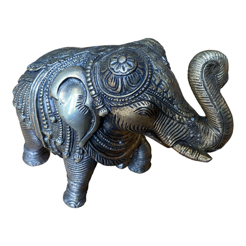 1970s Brass Elephant Statue With Intricate Details - FREE SHIPPING!