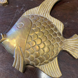1970s Brass Fish Collection - Set of 3 - FREE SHIPPING!