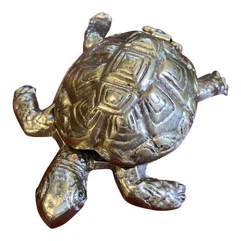 1970s Brass Turtle Box** - FREE SHIPPING!