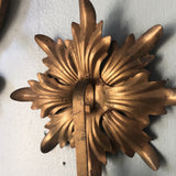 1970s Italian Florentine Sconces - a Pair - FREE SHIPPING