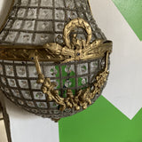 1970s French Hollywood Regency Brass Sconce - FREE SHIPPING!