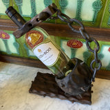 1970s Gothic Renaissance Wooden Wine Holder - FREE SHIPPING!