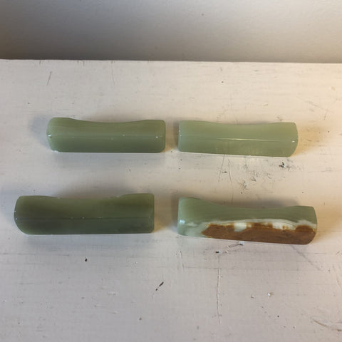 1970s Jade Chopstick Holders - Set of 4 - FREE SHIPPING!