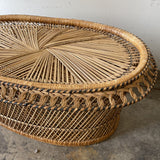 1970s King Cobra Wicker Coffee Table** - FREE SHIPPING!