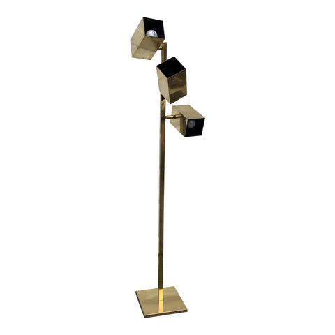 1970s Koch and Lowy Minimalist Design Brass Lamp - FREE SHIPPING!