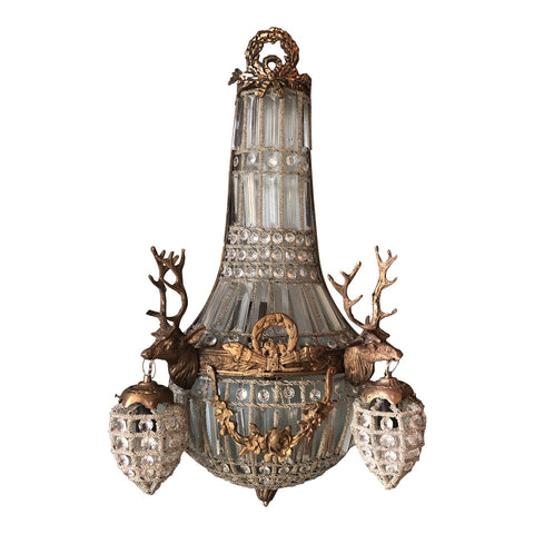 1970s Large Deer Head Stag Sconce - FREE SHIPPING!