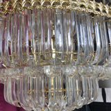 1970s Lucite and Goldtone Metal Tiered Chandelier - FREE SHIPPING!