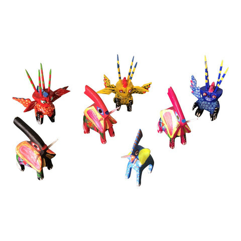 1970s Mexican Alebrijes - Set of 7 - FREE SHIPPING!